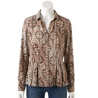 Women's Dana Buchman Release-Pleat Shirt