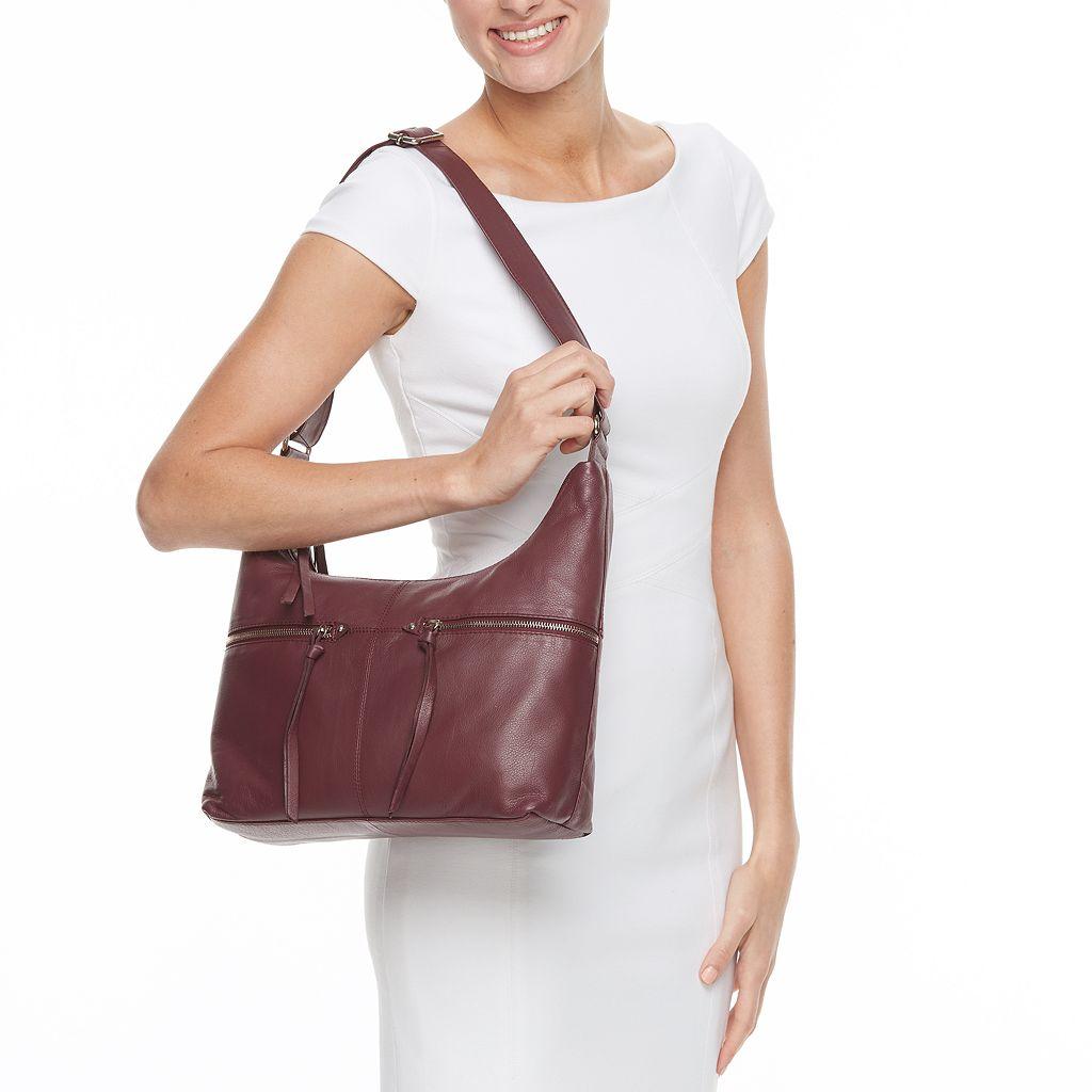La Diva Gemma Dual-Entry Leather Hobo
