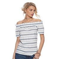 Women's Juicy Couture Striped Off-the-Shoulder Top