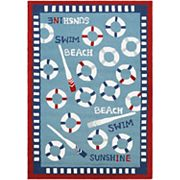 Couristan Beachfront Orford Framed Nautical Indoor Outdoor Rug