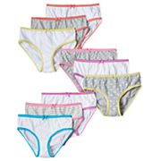 Girls 4-14 Maidenform 9 pkSolid & Pattern Briefs