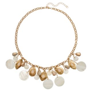 White Composite Shell Disc Necklace