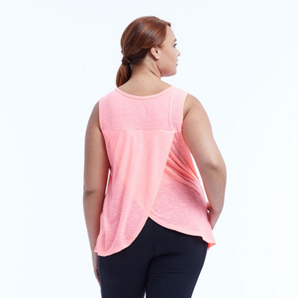 Plus Size Marika Curves Serena Tulip Hem Tank