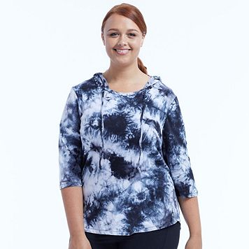 Plus Size Marika Curves Marina Tie-Dye Hoodie