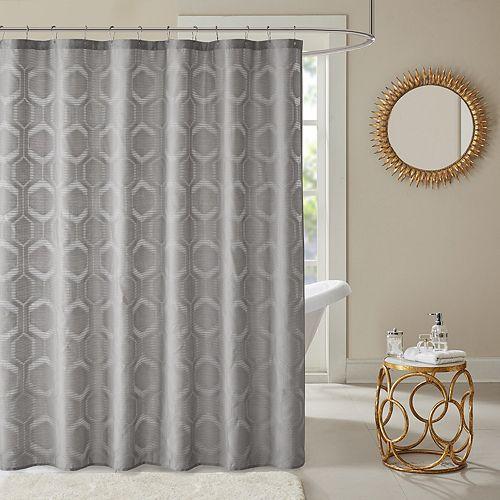 Madison Park Cabot Semi Sheer Shower Curtain