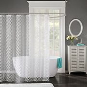 Madison Park Bailey Clipped Shower Curtain