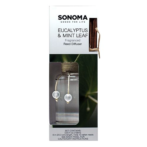 SONOMA Goods for Life™ Eucalyptus & Mint Leaf Reed Diffuser 11-piece Set
