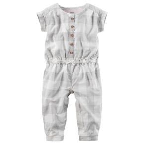 Baby Girl Carter's Checkered Jumpsuit