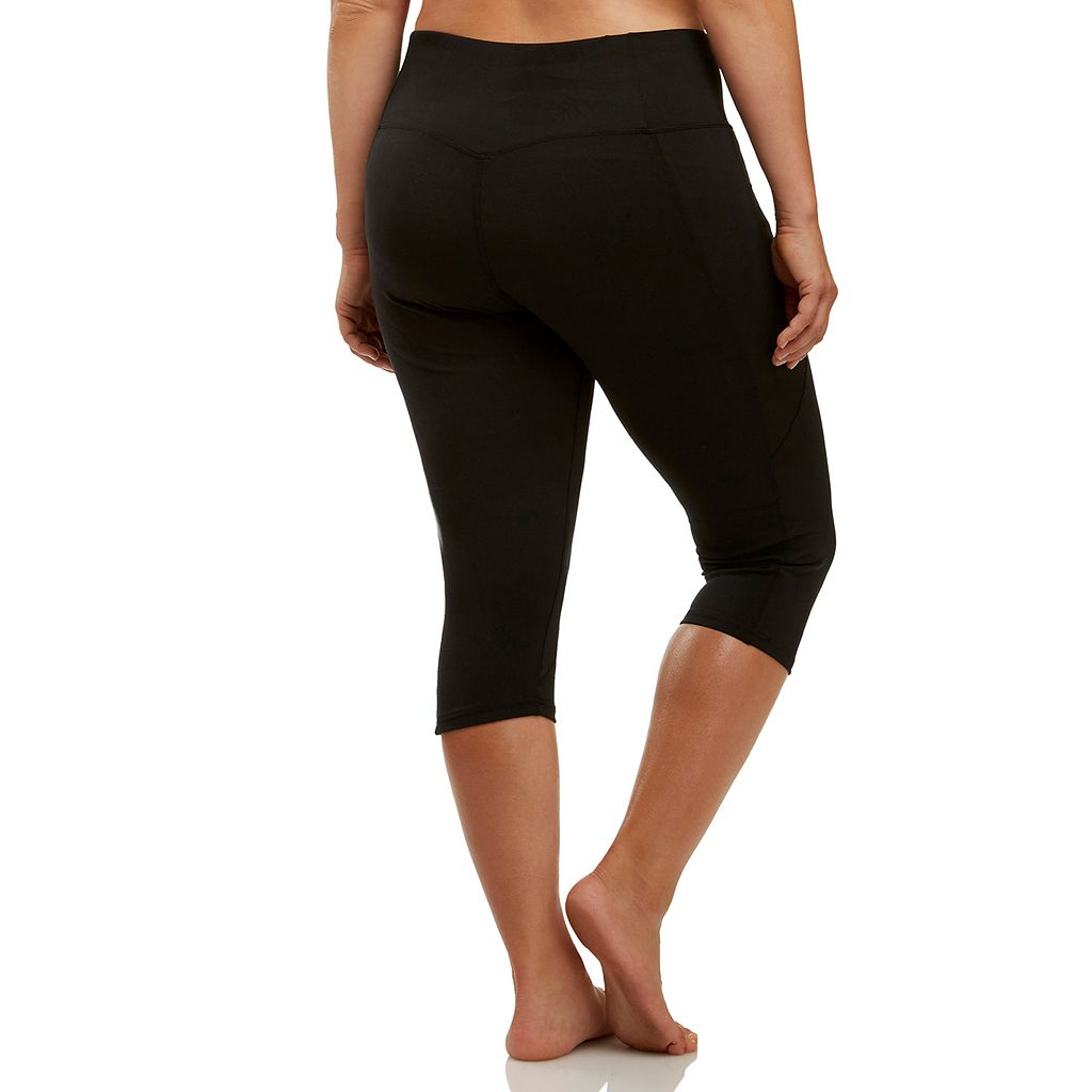 Plus Size Marika Curves Slimming High-Waisted Capri Leggings