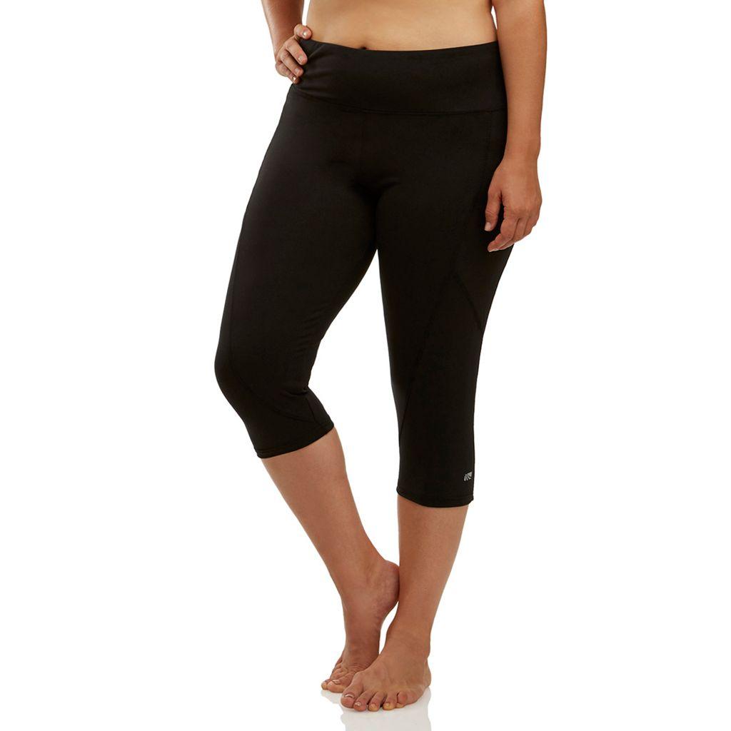 Plus Size Marika Curves Slimming High-Waisted Capri Leggings