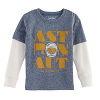 Toddler Boy Jumping Beans® Mock-Layer Thermal Graphic Tee
