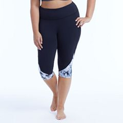 Plus Size Marika Curves Tie-Dye High-Waisted Kicker Capri Leggings