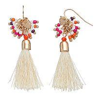 Seed Bead Cluster Tassel Nickel Free Drop Earrings