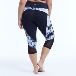 Plus Size Marika Curves Tie-Dye High-Waisted Tummy Control Capri Leggings