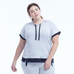 Plus Size Marika Curves Effortless Hooded Short Sleeve Tee