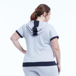 Plus Size Marika Curves Effortless Hooded Short Sleeve Tee