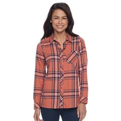 Petite SONOMA Goods for Life™ Essential Plaid Flannel Shirt