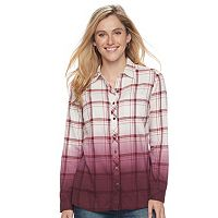 Petite SONOMA Goods for Life™ Essential Plaid Flannel Shirt