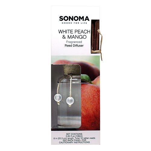 SONOMA Goods for Life™ White Peach & Mango Reed Diffuser 11-piece Set