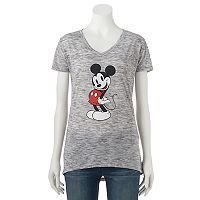 Disney's Mickey Mouse Juniors' Posing Graphic Tee