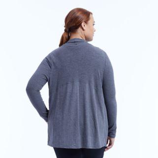 Plus Size Marika Curves Breeze Ribbed Cardigan