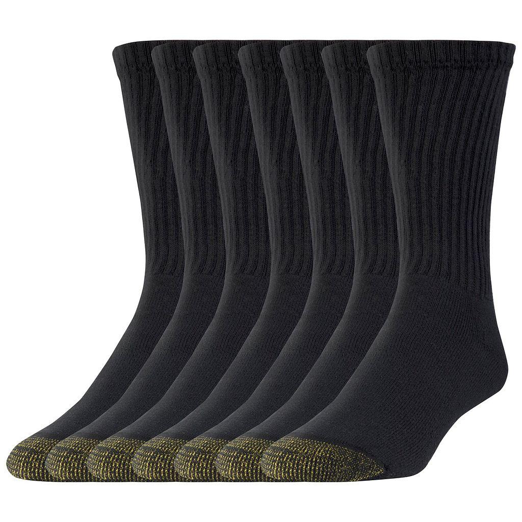 Men's GOLDTOE 6-pack + 1 Bonus Cushioned Crew Socks