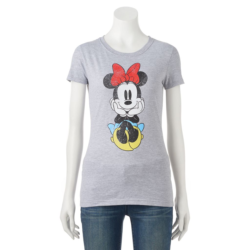 Disney's Minnie Mouse Juniors' Sitting Graphic Tee