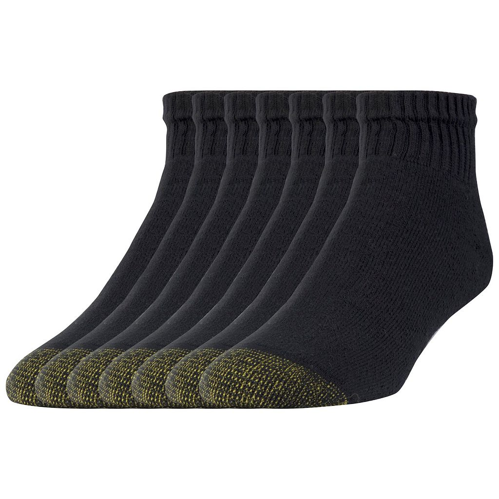 Extended Size GOLDTOE 6-pack + 1 Bonus Cushioned Quarter Socks