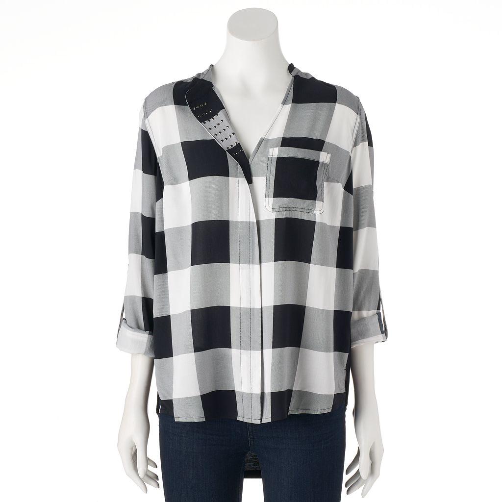 Women's Rock & Republic® Studded Plaid Shirt