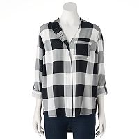 Women's Rock & Republic® Studded Plaid Shirt