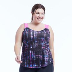 Plus Size Marika Curves Stride Printed Tank