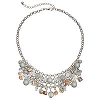 Composite Shell Beaded Statement Necklace