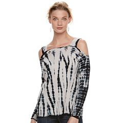 Women's Rock & Republic® Cold-Shoulder Grommet Sweater