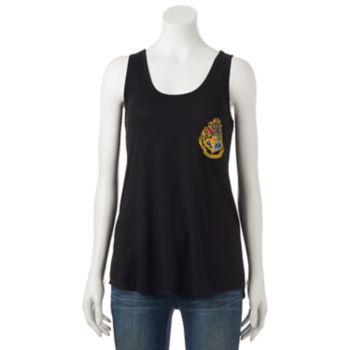 Juniors' Harry Potter Hogwarts Burnout Graphic Tank