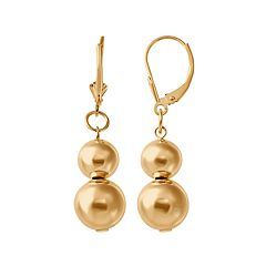 Everlasting Gold 14k Gold Bead Drop Earrings