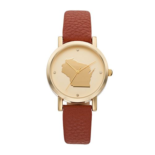 Women's State Silhouette Crystal Watch