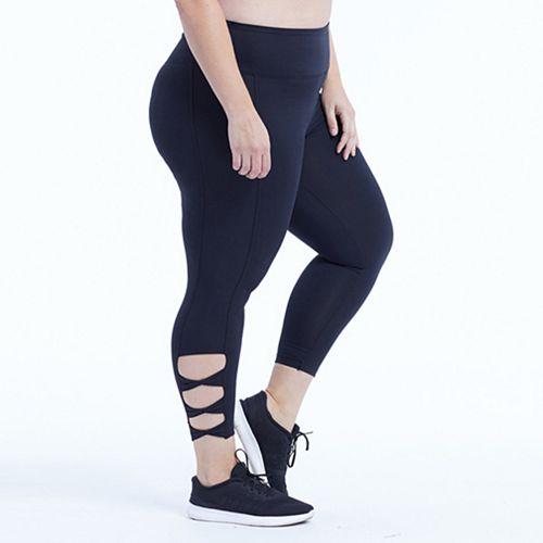e85a4af25 Plus Size Marika Curves Adore Cut Out Capri Leggings