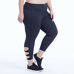 Plus Size Marika Curves Adore Cut Out Capri Leggings