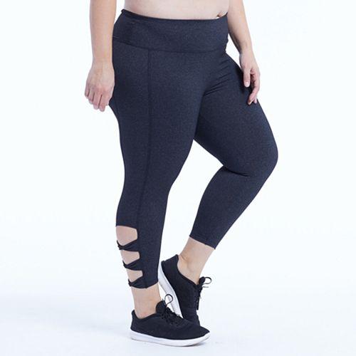 Plus Size Marika Curves Adore Cut Out Capri Leggings