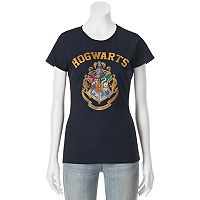 Juniors' Harry Potter Hogwarts Crest Crew Neck Graphic Tee