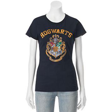 Juniors' Harry Potter Hogwarts Crest Crew Neck Graphic Tee