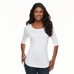 Women's Apt. 9® Essential Elbow-Sleeve Tee