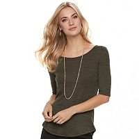 Women's Apt. 9® Essential Elbow-Sleeve Tee