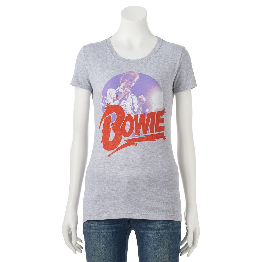 Juniors' David Bowie Graphic Tee