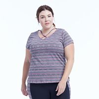 Plus Size Marika Curves Marathon Short Sleeve Tee