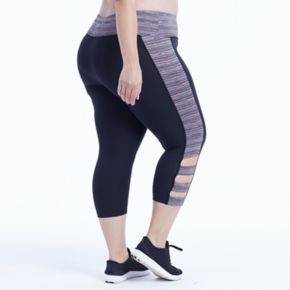 Plus Size Marika Curves Sprint Cut Out Capri Leggings