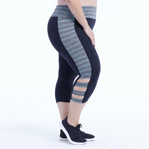 Plus Size Marika Curves Sprint Cut Out Capri Leggings
