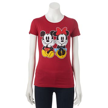 Disney's Mickey & Minnie Mouse Juniors' Sitting Graphic Tee