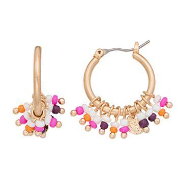 Seed Bead Nickel Free Hoop Earrings