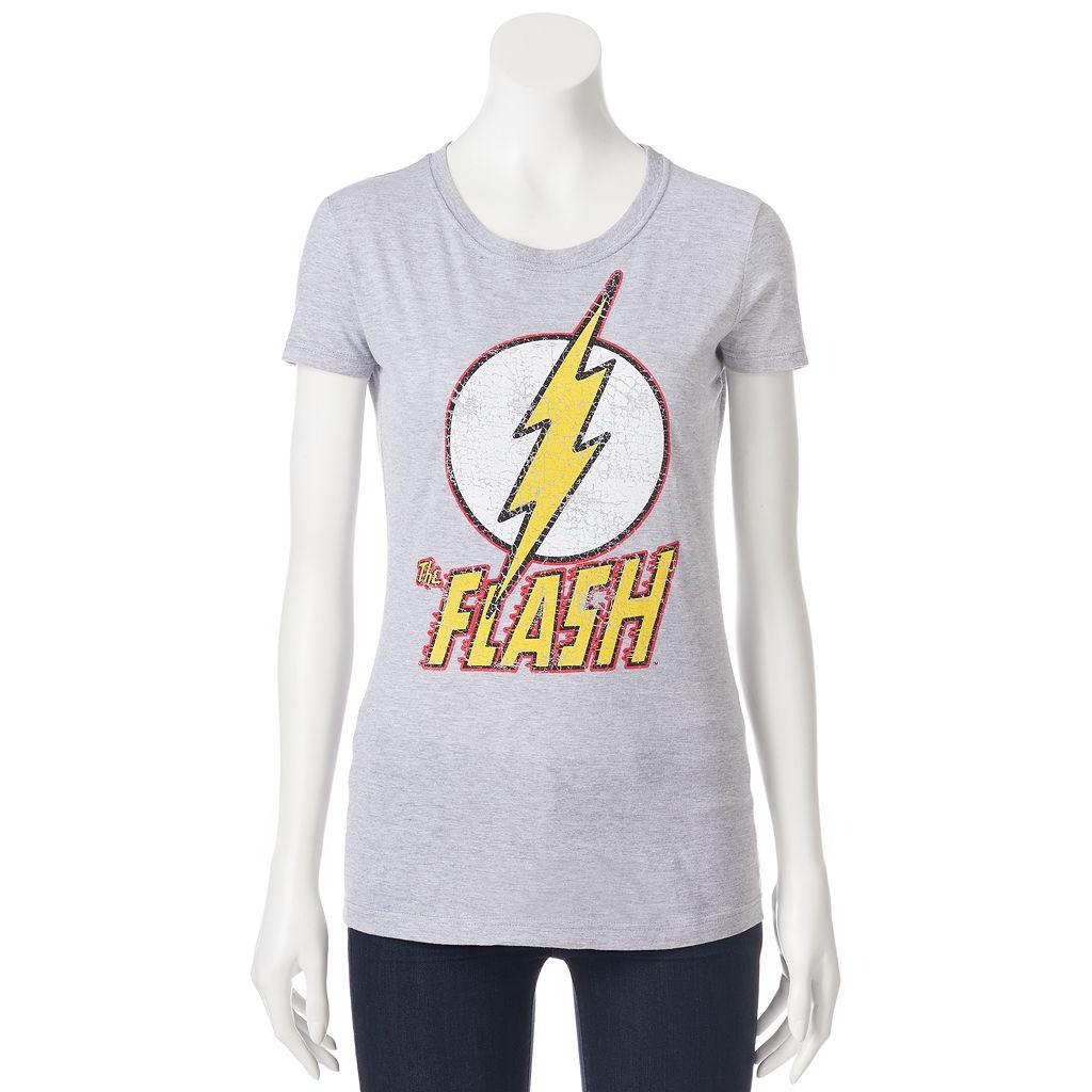 Juniors' DC Comics The Flash Logo Short Sleeve Graphic Tee